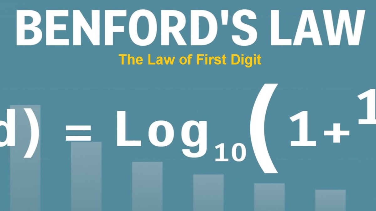 "Health Care Industry's Savior: Benford's Law ""The Law of the First Digit"""