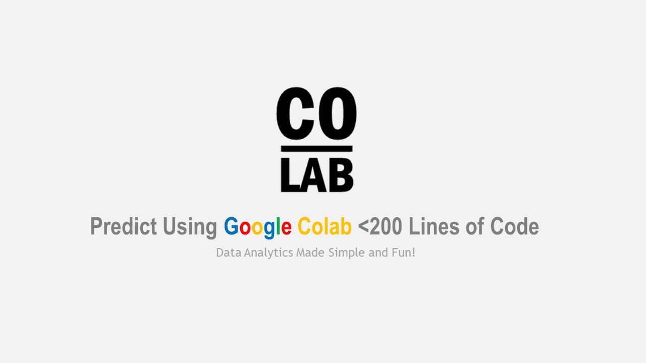 Google Colab: Create predictive models in no time – Data Dojo: Data